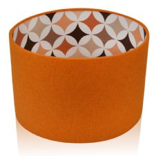 Shetland Burnt Orange / RETRO Linen Style  Drum Lampshade